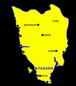 Fazana Tour-Istria-Istria map