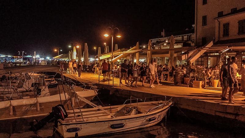 Fazana Tour-Istria-evening in town